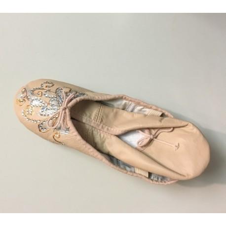 Scarpe da mezzapunta con decorazione e strass