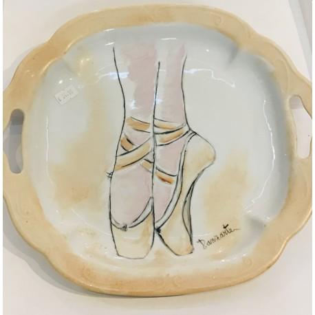 Piatto in ceramica Danzarte